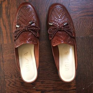 Real Leather Woven Mules with Tassels